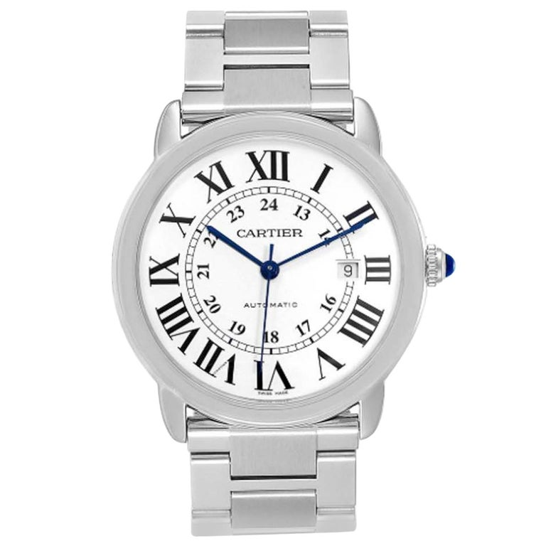 Cartier Ronde Solo W6701011 Stainless Steel Automatic Men's Watch For Sale