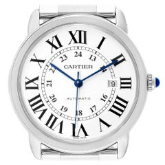 Cartier Ronde Solo Extra Large Automatic Steel Men's Watch W6701011 Box Papers