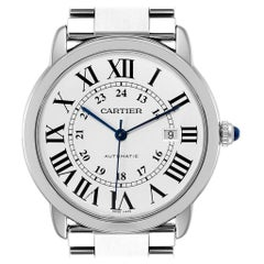 Cartier Ronde Solo XL Automatic Steel Men's Watch W6701011 Box Papers