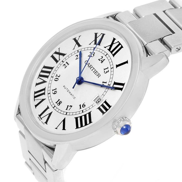 Cartier Ronde Solo Extra Large Automatic Steel Men's Watch W6701011 3