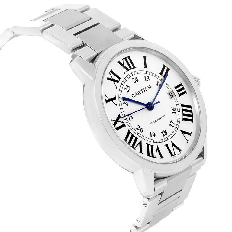 Cartier Ronde Solo Extra Large Automatic Steel Men's Watch W6701011 8