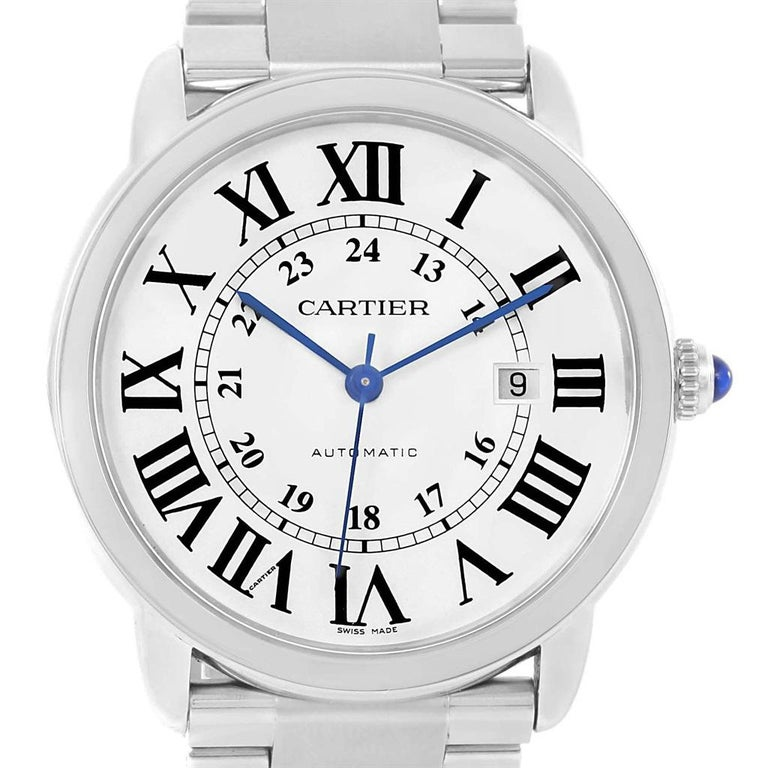 Cartier Ronde Solo Extra Large Automatic Steel Men's Watch W6701011 1