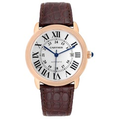 Cartier Ronde Solo XL Rose Gold Steel Men's Watch W6701009 Box Papers
