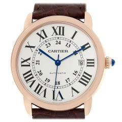 Cartier Ronde Solo XL Rose Gold Steel Men's Watch W6701009 Unworn