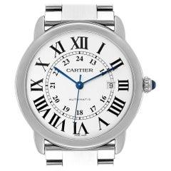 Cartier Ronde Solo XL Silver Dial Automatic Steel Men's Watch W6701011