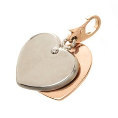 Cartier Rose and White Gold Heart Pendant Charm