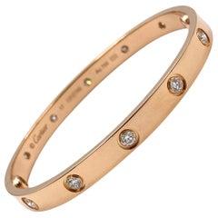 Cartier Rose Gold 10 Diamond Love Bracelet