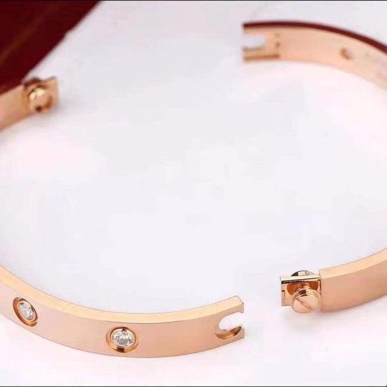 Cartier Rose Gold 10 Diamond Love Bracelet 1