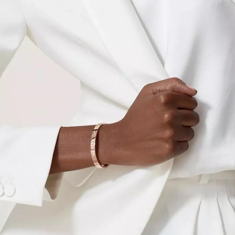 Cartier Rose Gold 10 Diamond Love Bracelet 4