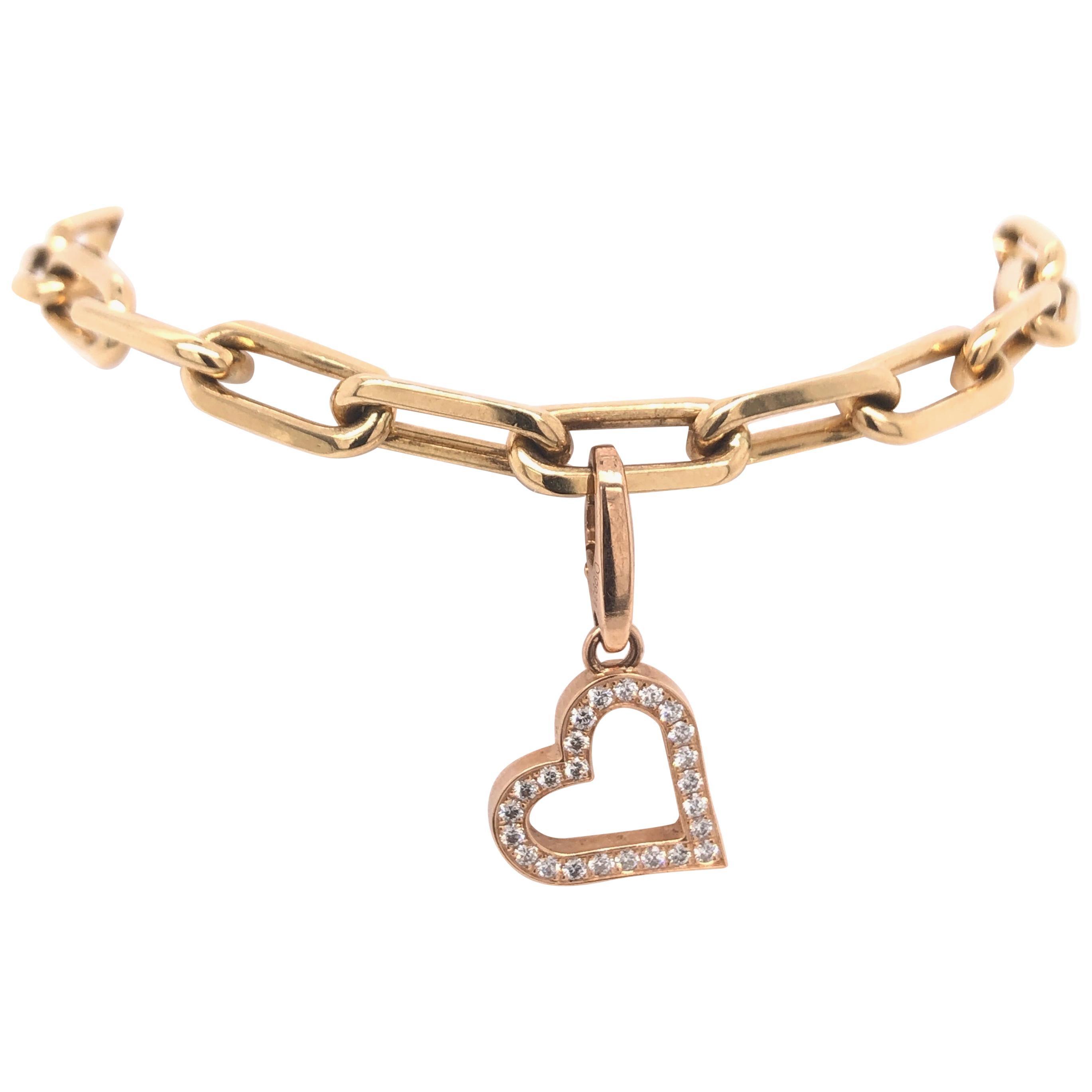 b0b795147db7a CARTIER Fidelity Yellow Gold Heart Key Bar Link Bracelet