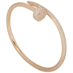 Cartier Rose Gold Diamond Juste Un Clou Bracelet