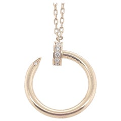 Cartier Rose Gold Diamond Juste un Clou Pendant Necklace