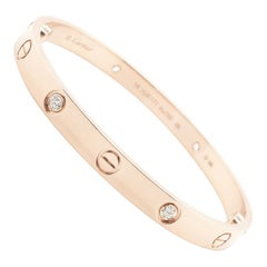 Cartier Rose Gold Diamond Love Bracelet