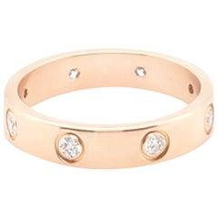 Cartier Rose Gold Diamond Love Ring