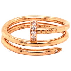 Cartier Rose Gold and Diamonds Juste Un Clou Double Wrap Ring