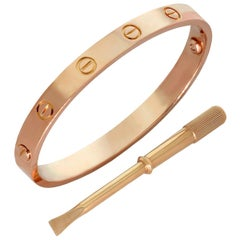 Cartier Rose Gold Love Bangle Bracelet