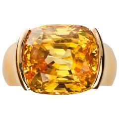Cartier Rose Gold Sapphire Diamond Ring