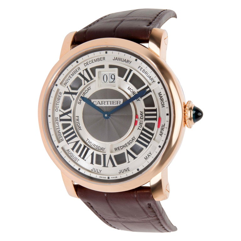 Cartier Rotonde Annual Calendar W1580001 Men's Watch in 18 karat Rose Gold For Sale