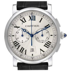 Cartier Rotonde Chronograph Steel Men's Watch WSRO0002 Box Papers