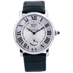 Cartier Rotonde W1556369 Manual Wind Stainless Leather Men's Watch
