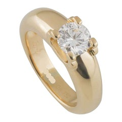 Cartier Round Diamond Solitaire Engagement Ring 1.01 Carat GIA Certified