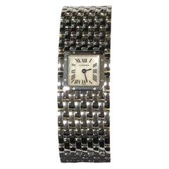 Cartier Ruban Steel and Pearl Dial Quartz Ladies Wristwatch