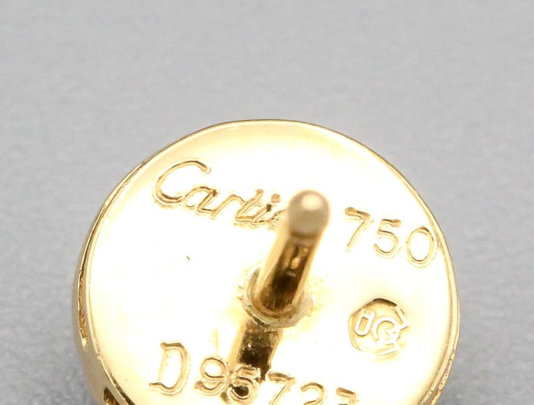 Cartier Ruby Diamond 18 Karat Gold Dome Earrings Studs In Excellent Condition For Sale In New York, NY