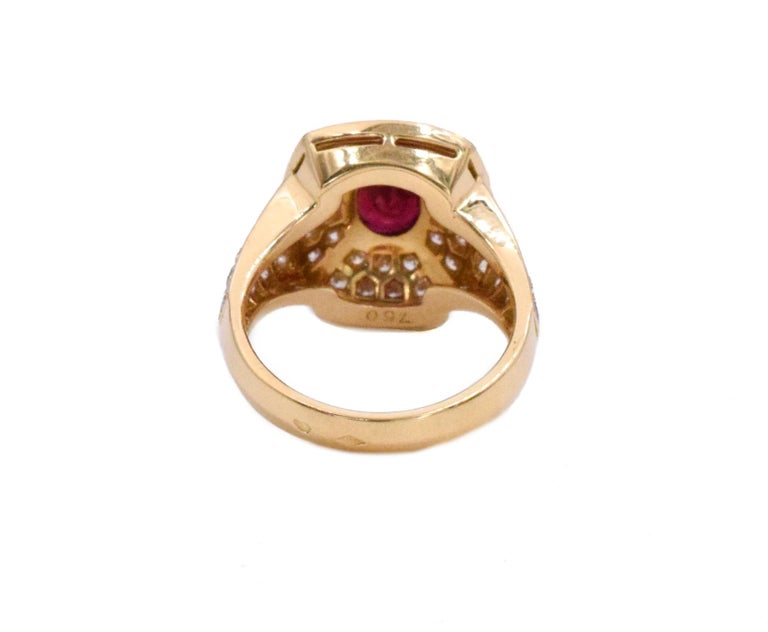 Cartier Ruby and Diamond Earrings and Ring Set For Sale 1