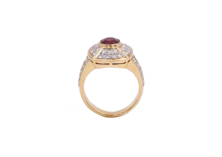 Cartier Ruby and Diamond Earrings and Ring Set For Sale 3