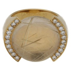 Cartier Rutilated Quartz and Diamond Ring in Gold