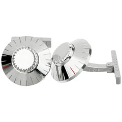 Cartier Safe Lock Combination White Gold Cufflinks