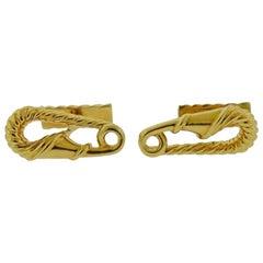 Cartier Safety Pin Yellow Gold Cufflinks