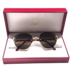 Cartier Salisbury Rimless Gold Special Edition 51mm France Sunglasses