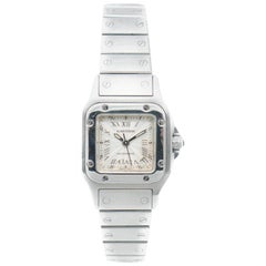Cartier Santos 100 2878 28 Millimeters Silver Dial, Certified and Warranty