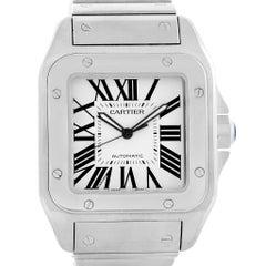 Cartier Santos 100 Automatic Large Steel Men's Watch W200737G