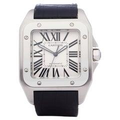 Cartier Santos 100 Men Stainless Steel 0 Watch