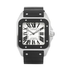 Cartier Santos 100 Stainless Steel and Rubber 2656