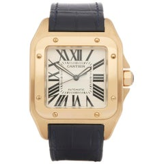 Cartier Santos 100 W2007171 18 Karat Yellow Gold 2657