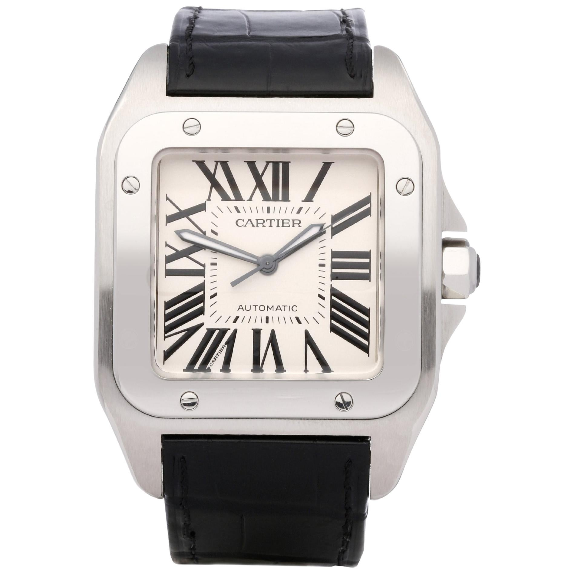 Cartier Santos 100 W20073X8 or 2856 Men's Stainless Steel Large Watch