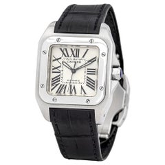 Cartier Santos 100 W20106X8, White Dial, Certified and Warranty