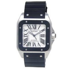Cartier Santos 100 W20121U2, Salmon Dial, Certified and Warranty