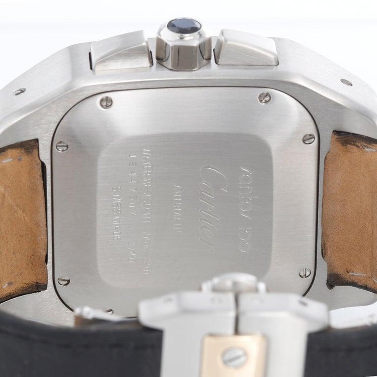 Cartier Santos 100 XL Chronograph Two Tone Men's Watch 2740 1