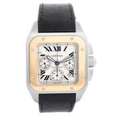 Cartier Santos 100 XL Chronograph Two Tone Men's Watch 2740