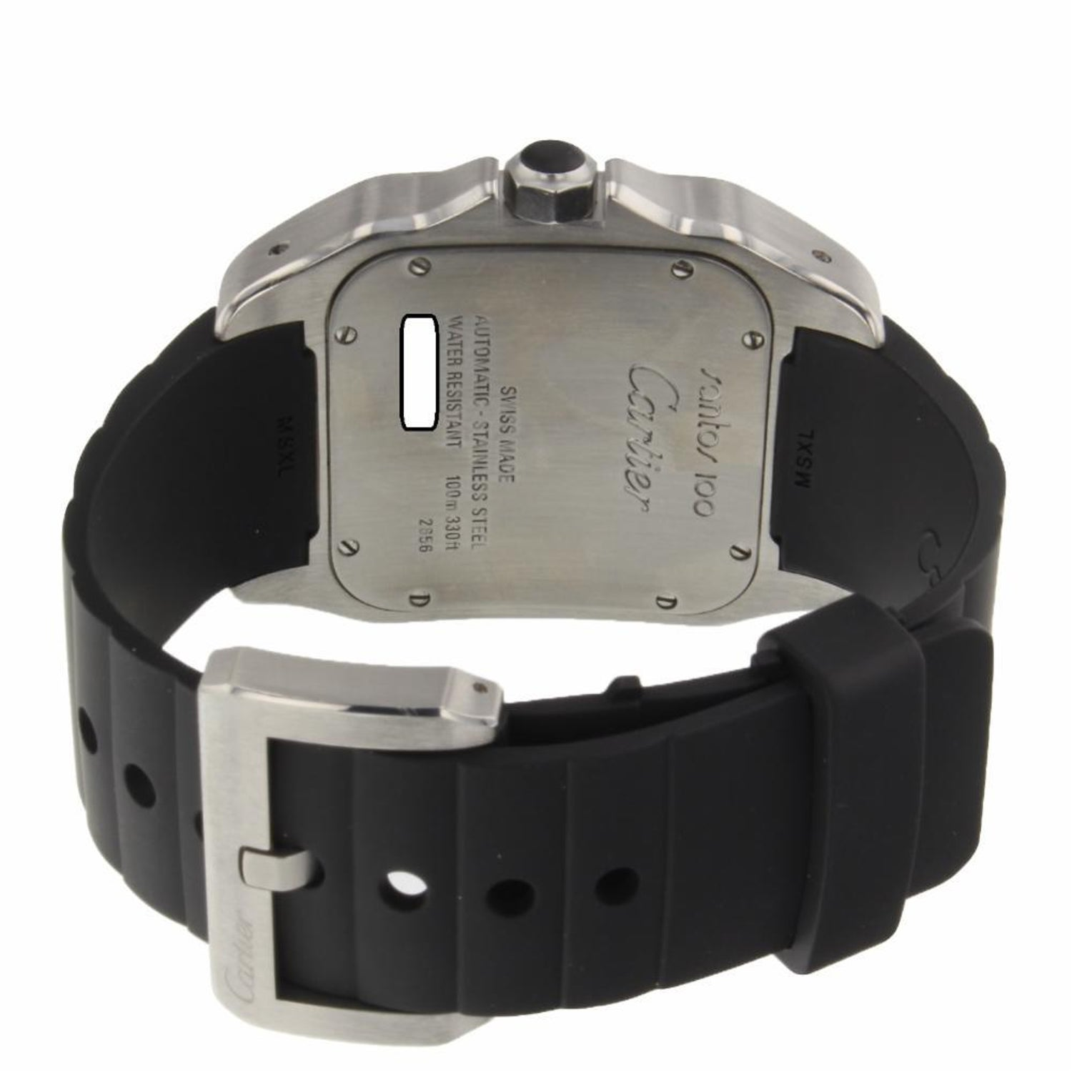 435bf27bc Cartier Santos 100 XL Steel Silver Dial Automatic Watch W20121U2 Mint For  Sale at 1stdibs