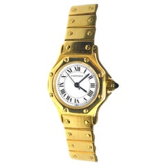 Cartier Santos 18 Karat Yellow Gold Mid Watch