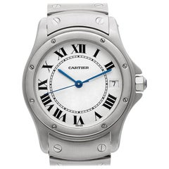 Cartier Santos 1920 1 Stainless Steel White Dial Automatic Watch