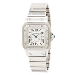 Cartier Santos 2319 Unisex Automatic Watch Silver Dial Stainless Steel 29Mm