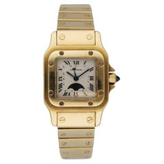 Cartier Santos 819902 18K Yellow Gold Moon Phase Ladies Watch