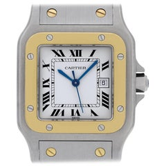 Cartier Santos ac 23.80, White Dial, Certified and Warranty