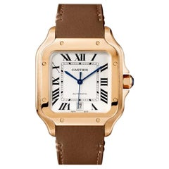 Cartier Santos Automatic Large Model Rose Gold Watch WGSA0044